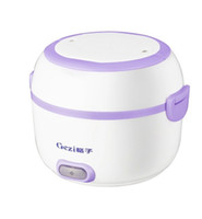 Wholesale Electric cooker Mini electric warm heated lunch box Rice Cooker car electric intelligent mini rice cooker