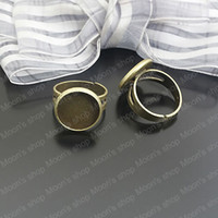 Couple Rings Jewelry Findings Metal Wholesale 18mm Antique Bronze round Copper Ring settings Findings Accessories 10 pieces(J-M3155)