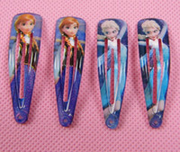 50pcs lot free shipping Frozen clips baby girls Cartoon Olaf...