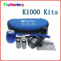Single Multi Metal E-pipe mod K1000 e cigarette kit with 18350 900mah battery K1000 Tank Atomizer Huge Vapor ePipe K1000 Mechanical Mod