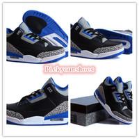 Wholesale Famous Trainers Retro Men s Sports Basketball Shoes Black Sport Blue Wolf Grey Size