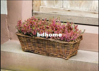 Wholesale Fashion willow flower pot home and garden planter decoration props wicker friut basket craft horticash