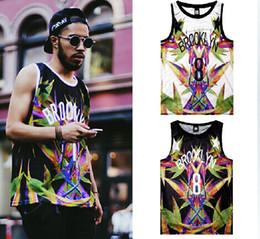 Wholesale Fashion Men Women Street Undershirt Tank Tops BROOKLYN Bird Of Paradise Breathable Vest d t shirt Hip hop Sports Tops TEE