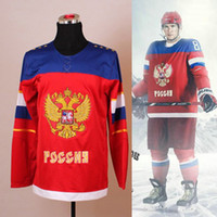 Men Full Jerseys 2014 Olympic Pavel Datsyuk Russia Jersey Sochi Team Russia Hockey Jersey Russian 13 Pavel Datsyuk Olympic Jersey
