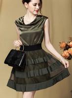 silk dress - new summer skirt silk dress stitching
