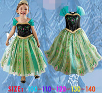 Fashion 2014 New children Summer Frozen Girl full Dress Elsa...