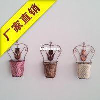 Cartoon hanging flower basket - Wall small flower pot artificial flower hanging basket small basket super