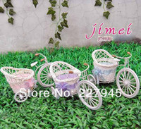 Wholesale Big wheel small floats flower container flowerpots arranging flower small flower bike flowerpot container flower basket