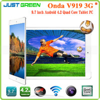 Under $200 Onda 9.7 inch Quad Core Tablet PC Onda V919 MTK8382 Android 4.2 OS 9.7 Inch 1024x768P IPS Screen RAM 1GB ROM 16GB GSM WCDMA FM GPS Bluetooth 6000mAh