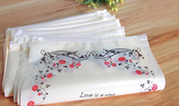 Wholesale Selling Transparent Bag - 30*40 Fashion Flower Printing Colorful Clear transparent Zip Zipper Retail Package Packing Bags Clothes Clothing selling storage bag 50pcs