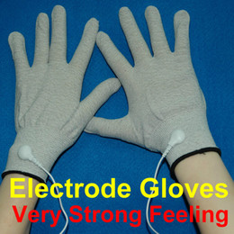 Wholesale Conductive Electrode Gloves Body Relax Massager Reuse Physiotherapy massage Gloves Silver Fiber Acupuncture Massage Gloves