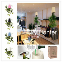 Wholesale New sky planter flower upside down plastic plant pots Indoor decorative pots for flowers