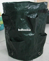 Grow Bags Army Green Modern Wholesale-Free Shipping Grow Pop-up Strawberry Herb Planter Specical Planting Bag planting Pot for Vegetable Balcony vegetables