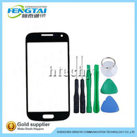 For Samsung Galaxy S4 mini cell parts - Touch Screen LCD Cover Front Glass Screen Lens Replacement Open Tools For Samsung Galaxy S4 Mini i9190 Cell Phones Parts set