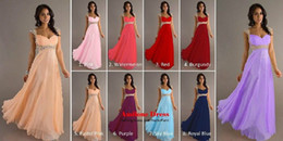 Wholesale 2014 Long Chiffon Bridesmaid Evening Formal Party Ball Gown Prom Wedding Dresses