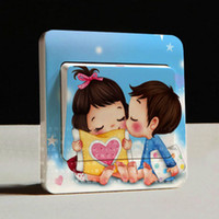 Wholesale 2014 New Arrive Creative Switch Stickers A Small Kiss Series Bedroom Wall Stickers