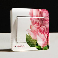 Wholesale Creative Switch Stickers Fragrance Florid Series Bedroom Parlor Wall Stickers
