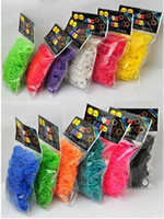 Charm Bracelets Unisex Halloween fedex free shipping DIY silicone loom bands rubber loom bands refills used to make bracelet 600 loom bands-24 S-clips