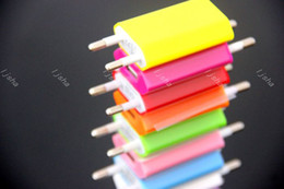 Wholesale 5V mah Colorful EU US Plug USB Wall Charger AC Power Adapter Home Charger for iphone S Plus Samsung S7 S6
