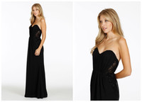Reference Images Lace Sleeveless Dramatic Summer Beach A-Line Floor-Length Lace and Chiffon Black Bridesmaid Dresses With Sheer Side Panels Sweetheart Backless 2014 Gowns