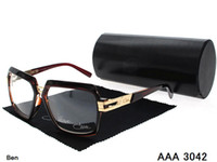 Sports popular sunglasses - 2014 the most popular black Brand Germany Cazal Sunglasses fashion Unisex Acetate big size sunglasses brand original box