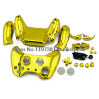 For Xbox Wireless Controller Force Feedback New Wireless Controller Full Housing chrome gold shell Kit for XBOX ONE