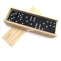 New domino game set - Details about Piece Dominoes Game Play Set In Wooden Box Fun Board Game Party Toy Travel G691