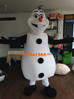 Mascot Costumes Unisex Free Size New Arrival Smiling Frozen Olaf Mascot Costume Fancy Party Dress Suit Free Shipping