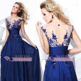 Wholesale Just Hot Selling Illusion Crew Neck Applique Sequin Lace Chiffon Hollow Vintage zuhair murad Celebrity Dress Evening Dress CPS011