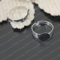 Couple Rings Metal Ring Settings Free Shipping Wholesale Cheap 18mm Imitation Rhodium Iron Ring Settings DIY Jewelry Findings Accessories 50 pieces(J-M3180)