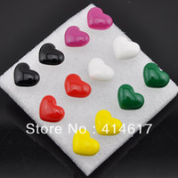 Stud Stud Earrings Earrings 1 Pack 6 Pairs Different Colors Heat Style Wedding Party Plastic Stud Earrings ER009