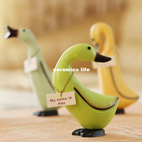 Wholesale 2014 new hand painted furniture painted wood ornaments goose creative birthday gift ornaments fashion jewelry at home