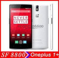 Wholesale Original Oneplus ONE quot Inch Qualcomm Snapdragon801 Quad Core GHz x1080 Camera MP GB RAM GB ROM G G LTE phone OTG NFC