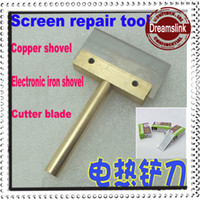 Wholesale Repair Split Separate Glass Touch Screen Digitizer Remove glue tool copper shovel electronic iron shovel W W W cutter blades