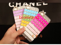 For Apple iPhone High Quality Floral flower Black For Samsung Galaxy S5 S4 S3 Note 3 N7100 Iphone4 4S 5 5S 4G 5G Candy Crystal Diamond Style No LOGO No chain Fedex DHL Ups Free Shipping 50P