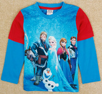 Cartoon frozen children t shirts, 2014 new kids t- shirts, cool...