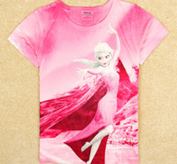 2014 fashion Frozen Princess Elsa children girls t shirt cot...