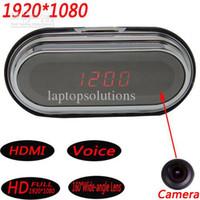 Wholesale HD P Alarm Clock Spy Camera Recorder Motion Detection Remote Control