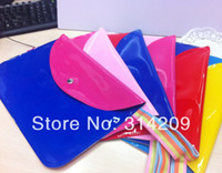Wholesale 2014 New Arrival Bright Colors A4 PU Document Foile Filling Folder Bags Waterproof Document Office Bag Holder Case Pouch