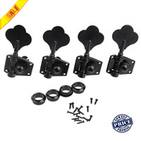Electric Bass Parts   4pcs set 4R Black Electric Bass Tuners Machine Heads Tuning Pegs Keys Set With Mounting Screws & Ferrules Guitar Parts I308