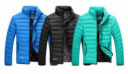 Wholesale Best selling Winter New Arrival men s winter jacket Men s Stand Collar Zipper Stripe Warm Cotton down Jacket Sports Coat