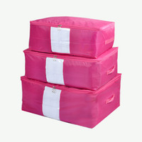 Wholesale Oxford cloth cotton factory direct quilt Quilt Cover pouch bags of clothing storage box three piece quilt