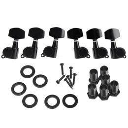 Wholesale 6pcs set Zinc Alloy Black Sealed Tuning Pegs Tuner Machine Head R L Electric Acoustic Guitar Parts I314