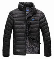 Wholesale Winter New Arrival men s winter jacket Men s Stand Collar Zipper Stripe Warm Cotton down Jacket Sports Coat