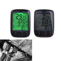 Wholesale Waterproof Multifunction Wireless Bike Bicycle Cycling Computer Odometer Speedometer LCD Backlight Backlit Computer H11025