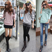 cozy - 2014 clothes NEW HOT Fashion trendy Cozy women ladies Noble clothes Batwing Tops Tees T shirts Leopard Bat sleeves T shirt G0509