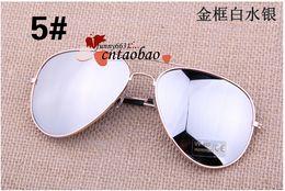 free shipping suit for Men Women Sunglasses Reflective Anti-Reflective lenses Unisex glasses Sunglasses Outdoor 10 pcs lot