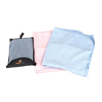 Wholesale 2014 New Outdoor Sports Polyester Quick drying Towel for Camping Climbing Portable Light Weight Quick Dry Pink Blue H10810