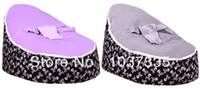 Cotton Front Carry Shoulders Free Shipping 2 TOPS Baby Bean Bag Chair,High Quality Original kids beanbag sofa beds- SKull + Purple or Grey top, both in stock