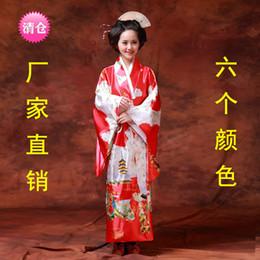 Wholesale Japanese kimono female Japanese samurai long kimono dress uniform temptation stage costumes photo studio